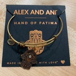 Alex and Ani Hand of Fatima Charm Bangle Bracelet